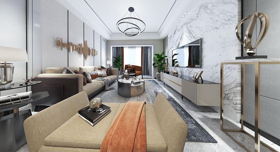 襄阳汉水华城御苑124平米现代风格装修效果图!
