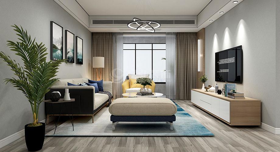 襄阳汉水华城御苑120平米现代简约风格装修效果图!