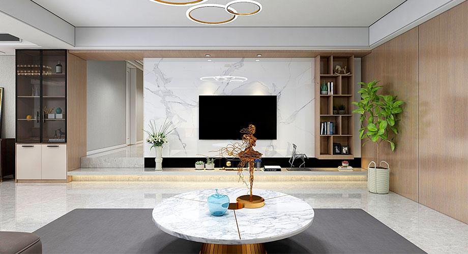 襄阳临江花园170平米现代风格装修效果图!
