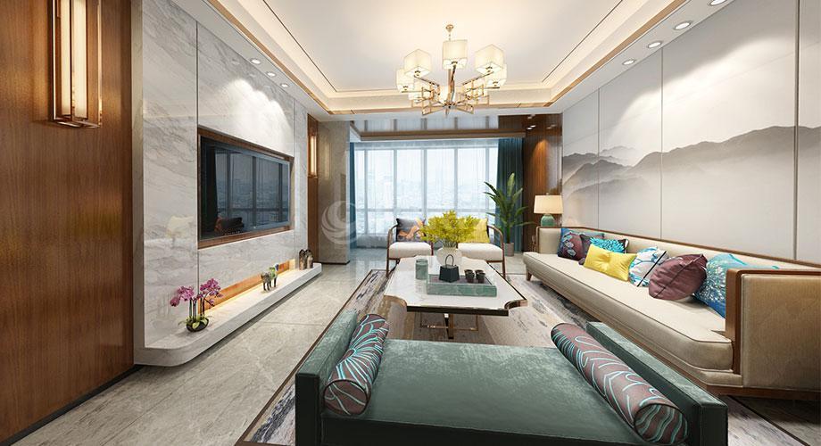新中式风格客厅装修效果图合辑