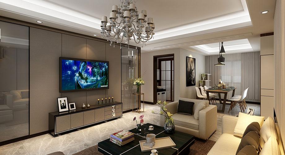 现代风格客厅电视背景墙装修效果图合辑