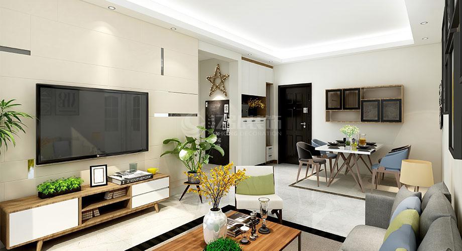 襄阳装修案例现代风格客厅电视背景墙装修效果图合辑