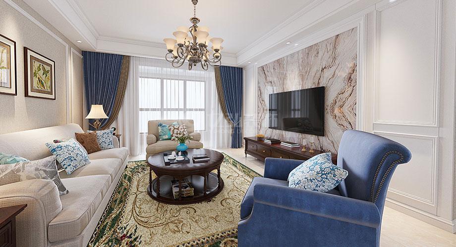 美式风格客厅电视背景墙装修效果图合辑!