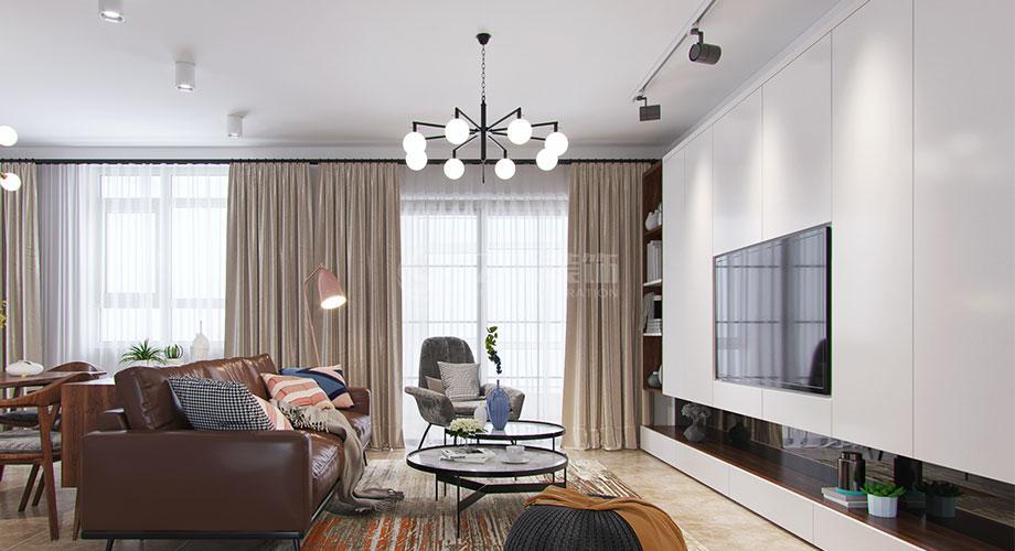 襄阳装修案例北欧风格客厅电视背景墙合辑