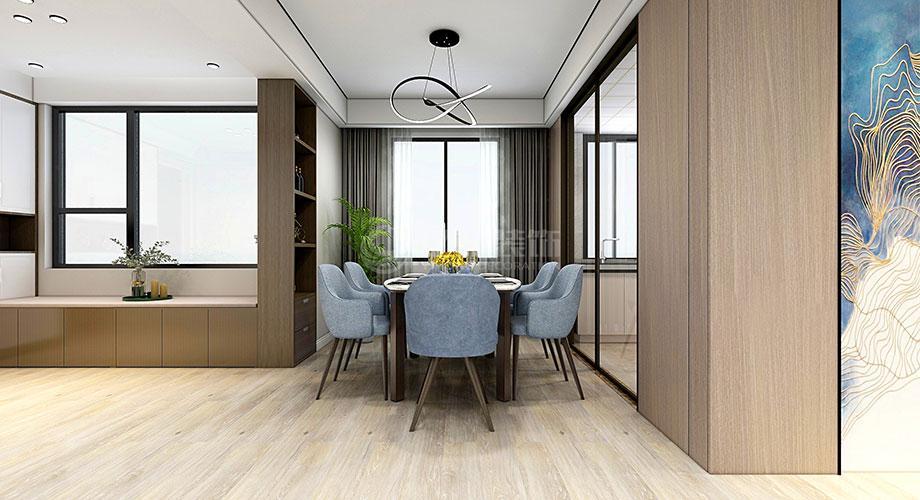 襄阳东风佳园142平米现代风格装修效果图!