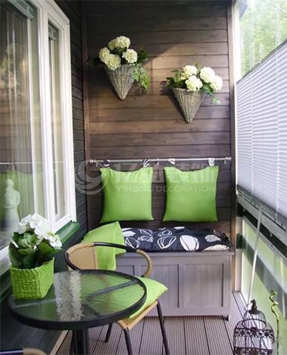 襄阳装修案例实用阳台装修效果图,小空间也大功能!