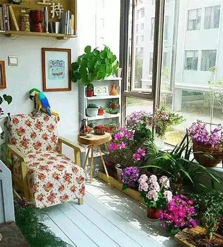 阳台装修效果图,把阳台变成一个清新休闲区!