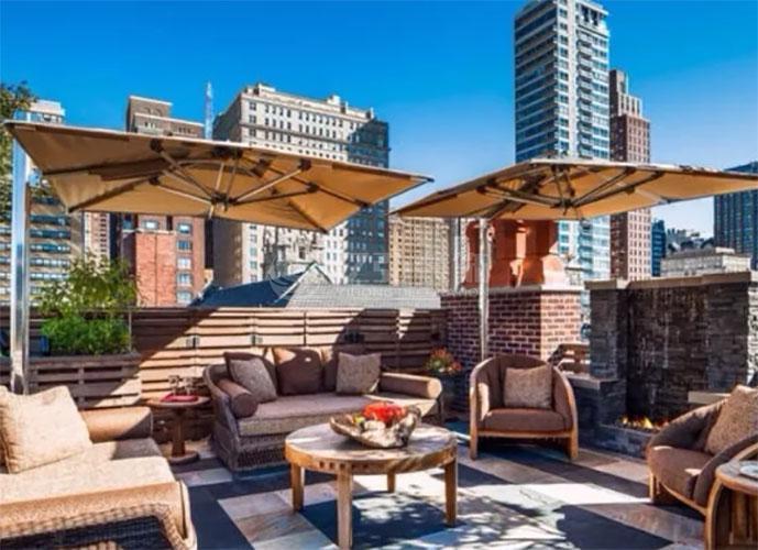 阳台装修效果图,几组楼顶露台花园设计参考!