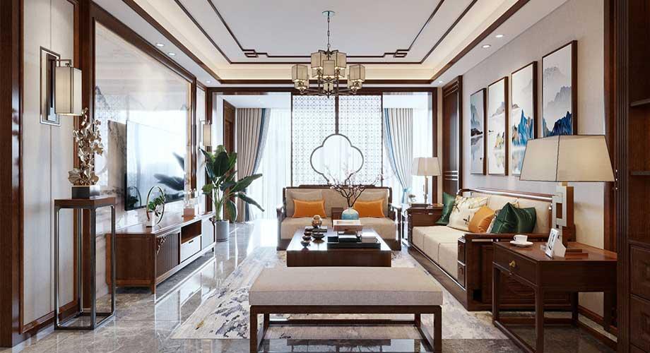 襄阳碧桂园御玺180平米中式风格复式楼装修效果图!