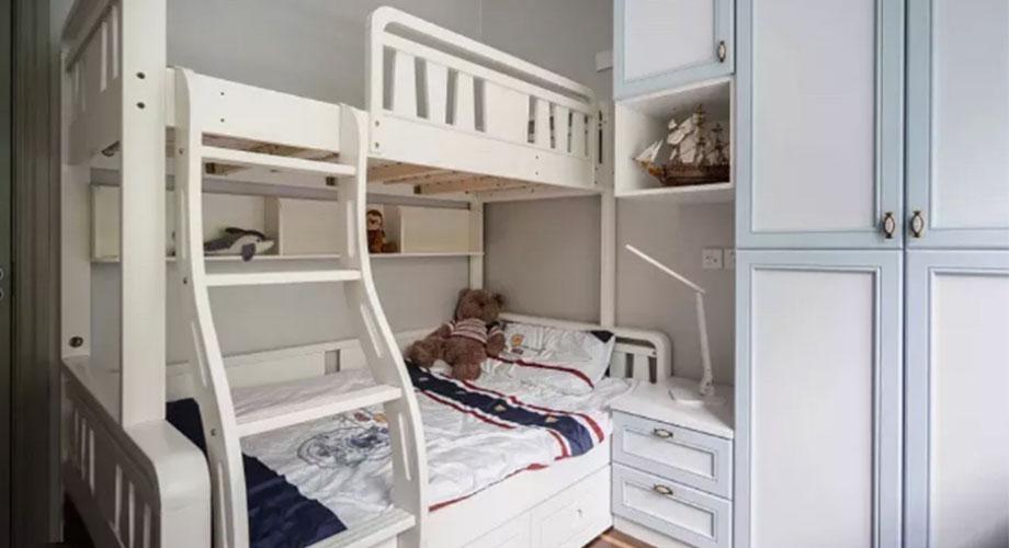 儿童房卧室装修效果图,上下床的设计实用又美观!