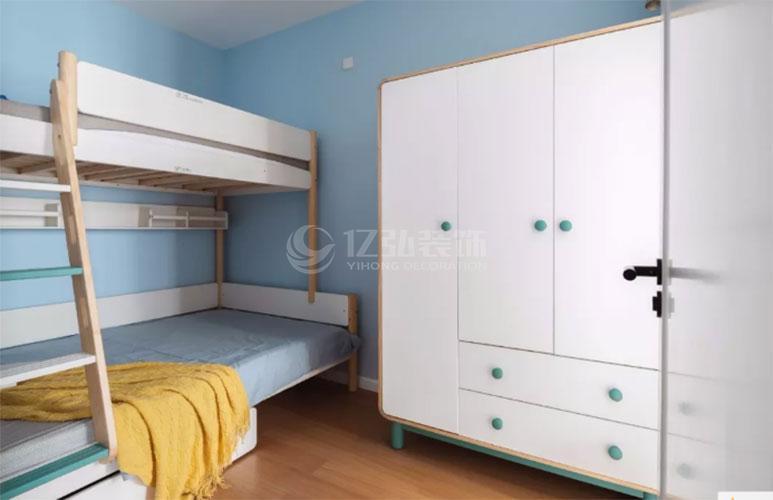 襄阳装修案例儿童房卧室装修效果图,上下床的设计实用又美观!