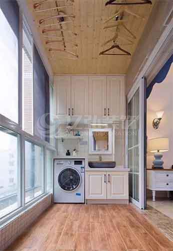 襄阳装修案例阳台装修效果图:阳台要贴瓷砖,记住一定要这样贴