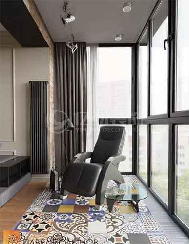 阳台装修效果图:阳台要贴瓷砖,记住一定要这样贴
