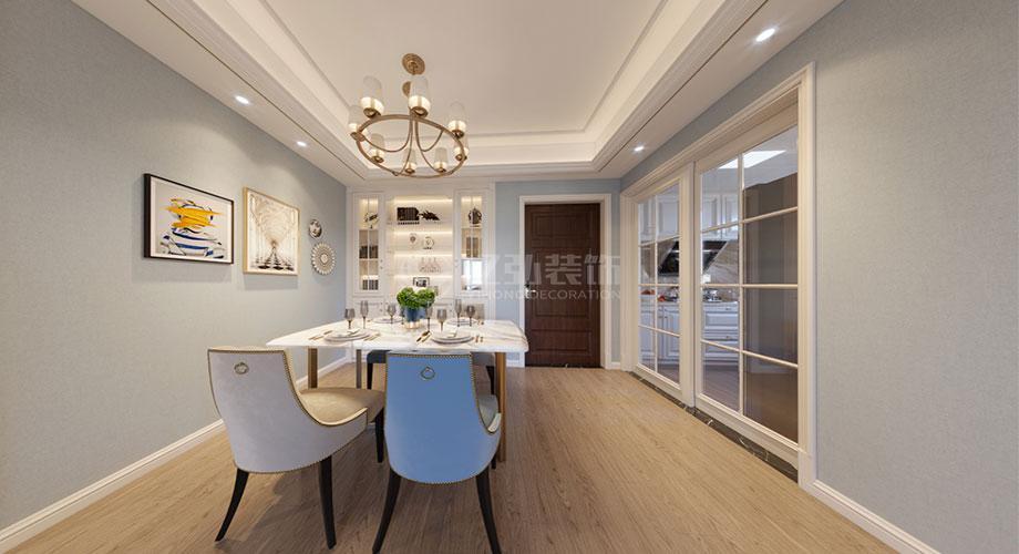 襄阳装修案例汉水华城130平米美式风格装修效果图!