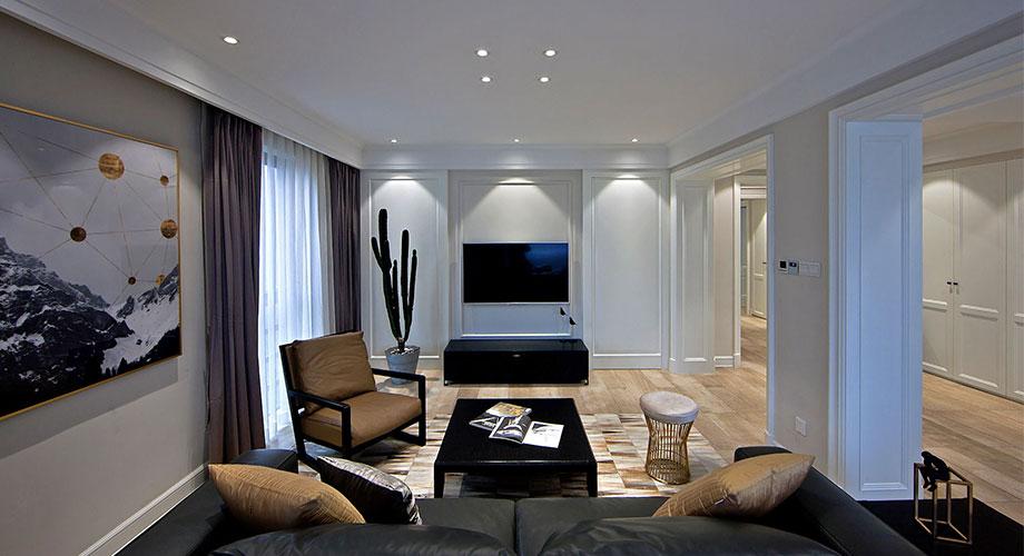 襄阳五月花122平米三室两厅现代风格装修效果图!
