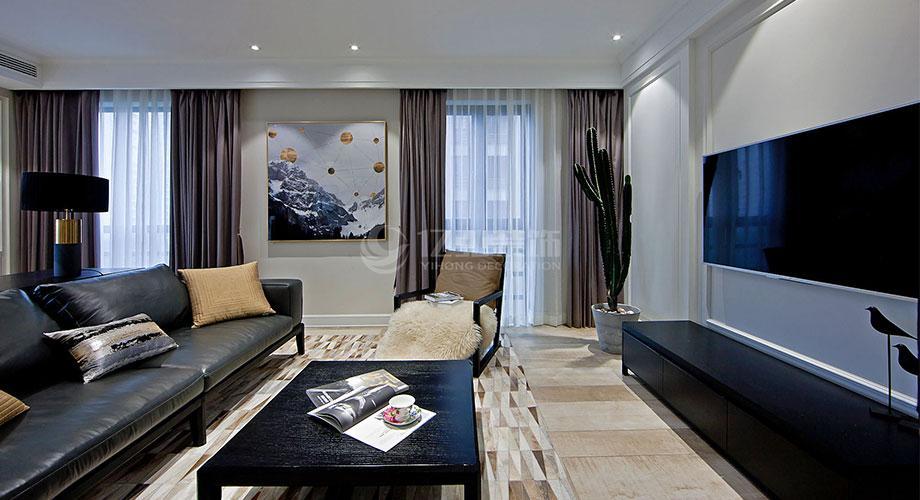 襄阳装修案例襄阳五月花122平米三室两厅现代风格装修效果图!