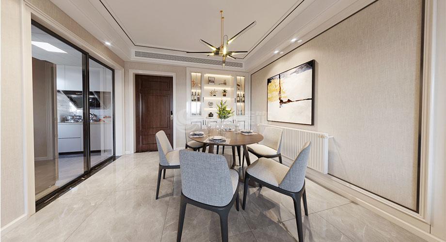 襄阳装修案例襄阳汉水华城御苑126平米现代风格装修效果图!