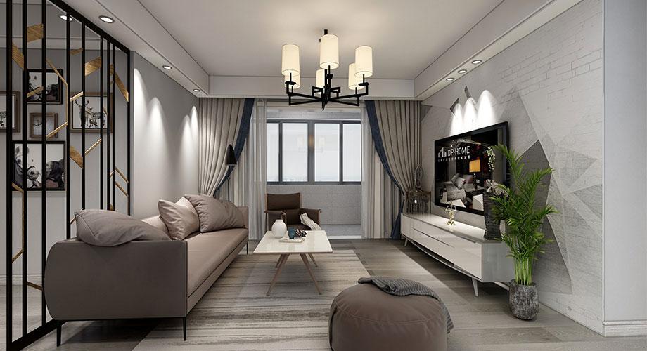 襄阳新天地120平米三室两厅现代风格装修效果图!