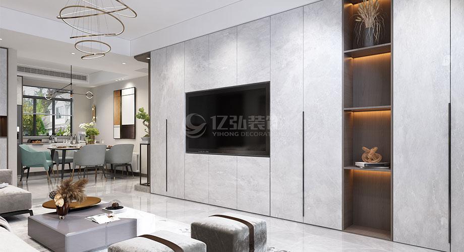 襄阳东津世纪城131平米现代风格装修效果图!