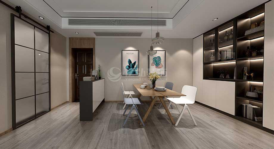 襄阳五月花124平米三室两厅现代风格装修效果图!