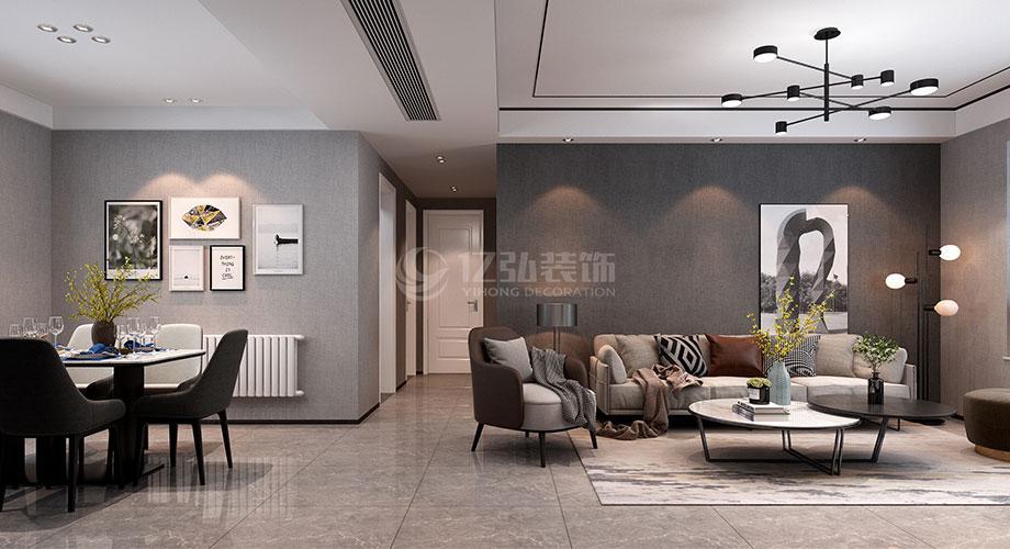 襄阳普鑫上东郡139平米现代简约风格装修效果图!