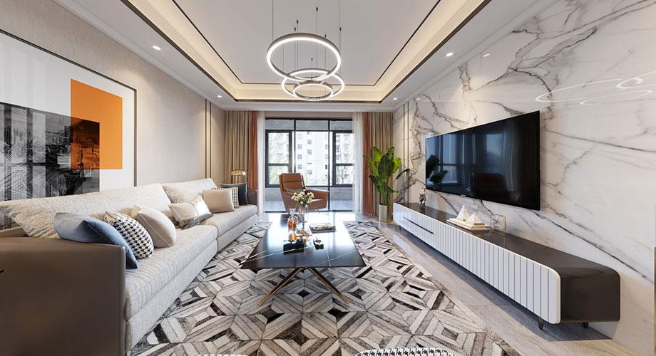 襄阳东津世纪城小区145平米四室两厅现代风格装修效果图鉴赏!