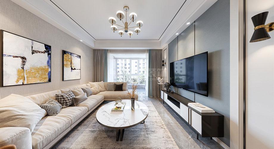 襄阳装修民发天地90平米两室两厅现代风格装修效果图!