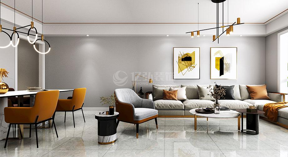 襄阳装修航宇幸福家园125平米现代风格装修效果图!