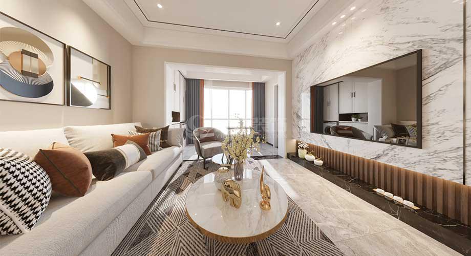 襄阳装修案例 襄阳128平米三室两厅现代风格装修案例赏析!