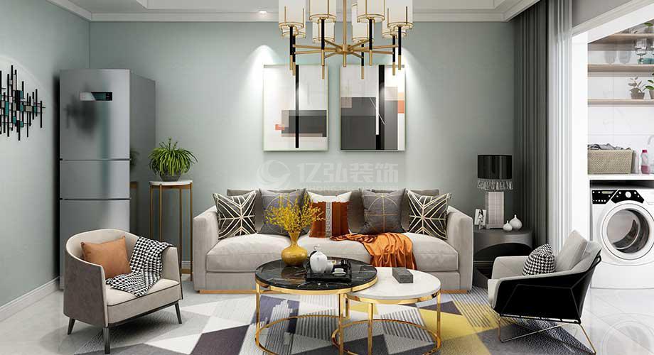 襄阳装修案例襄阳东津世纪城80平米现代风格两室装修,小户型也能装出大天地!