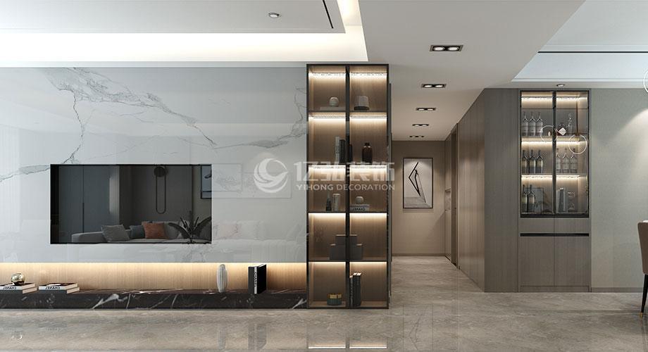 襄阳装修179平米现代风格复式楼装修效果图!