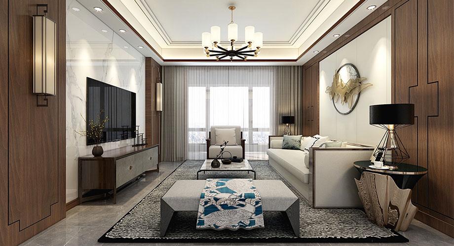 襄阳装修富春山居140平米四室两厅中式风格装修效果图!