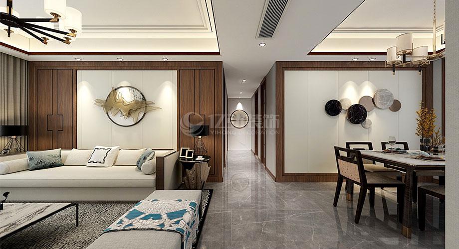 襄阳装修案例襄阳装修富春山居140平米四室两厅中式风格装修效果图!