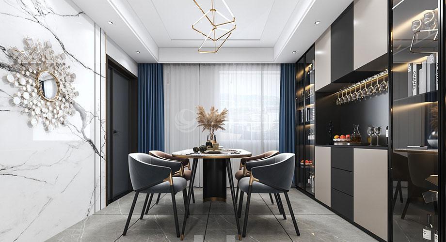襄阳装修165平米四室两厅后现代风格装修效果图!