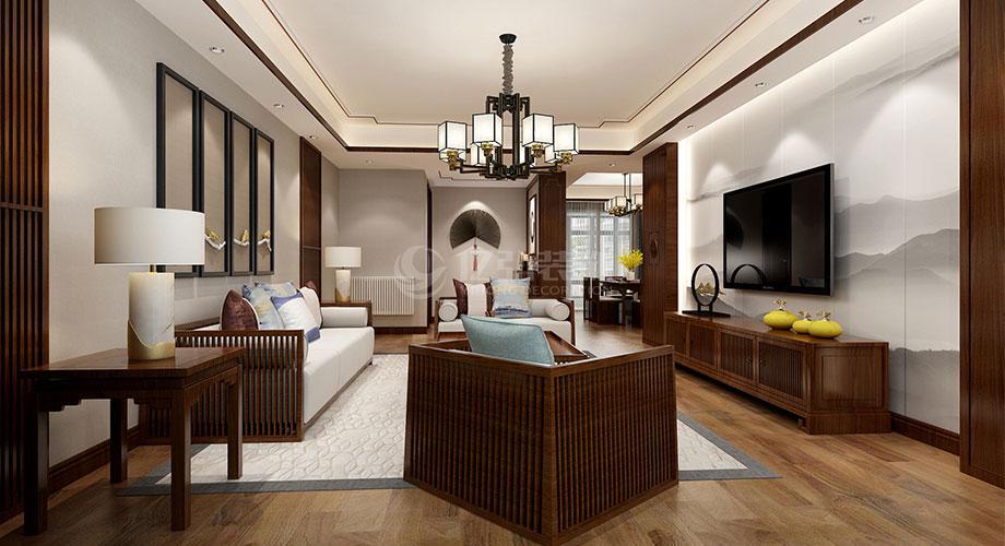 襄阳装修案例襄阳装修180平米中式风格大平层,高雅大气,古典有韵味!