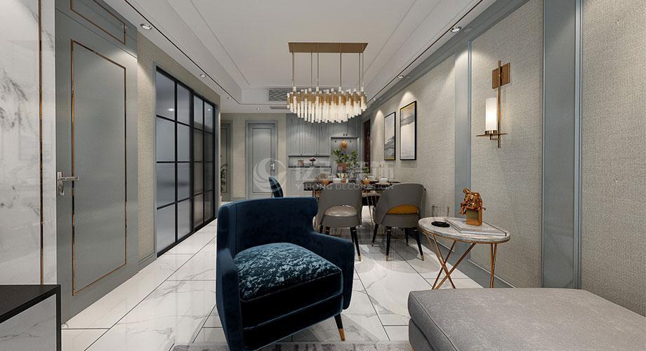 襄阳装修汉江梦117平米三室两厅现代轻奢风格装修效果图!