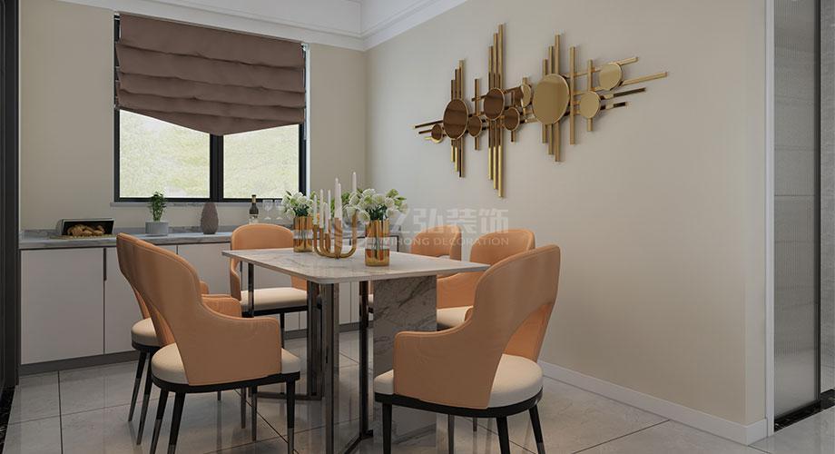 襄阳装修案例襄阳装修五月花138平米三室两厅现代轻奢风格装修效果图!
