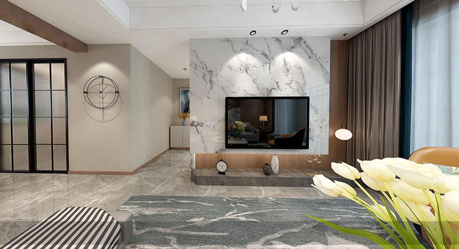 襄阳装修国色天襄120平米三室两厅现代轻奢风格装修效果图!