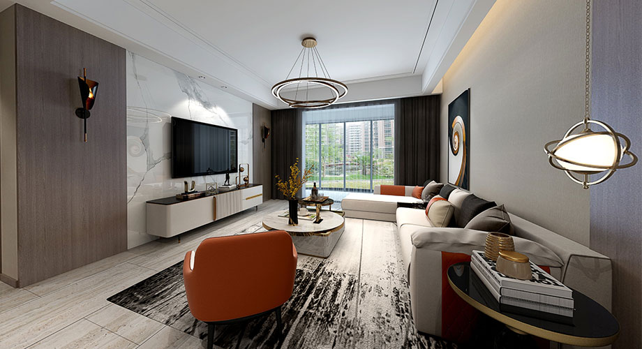 襄阳装修檀溪新居120平米三室两厅现代轻奢风格装修效果图!