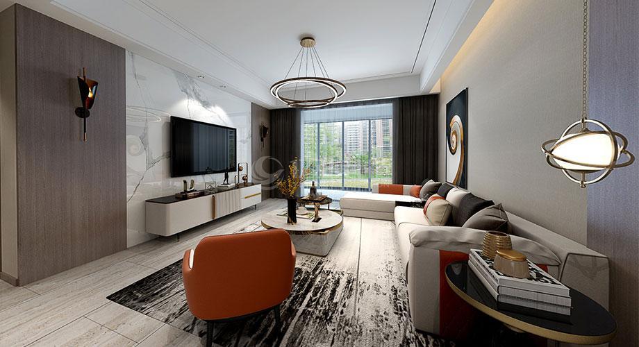 襄阳装修案例襄阳装修檀溪新居120平米三室两厅现代轻奢风格装修效果图!