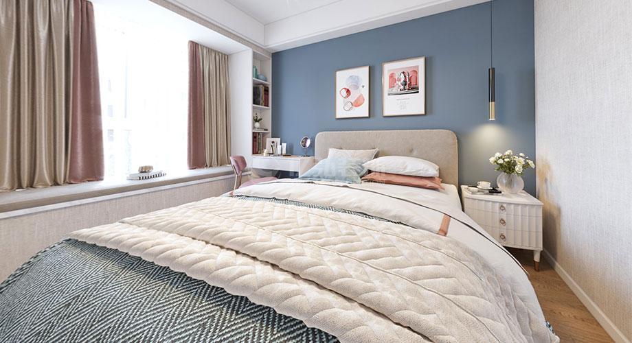 襄阳装修东津世纪城115平米三室两厅北欧轻奢风格装修效果图!