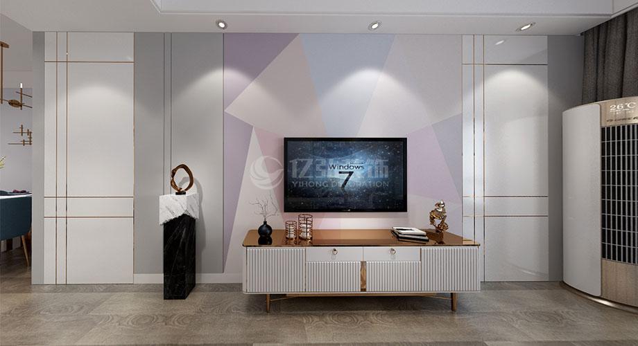 襄阳装修案例襄阳装修鼎府112平米三室两厅现代轻奢风格装修效果图!