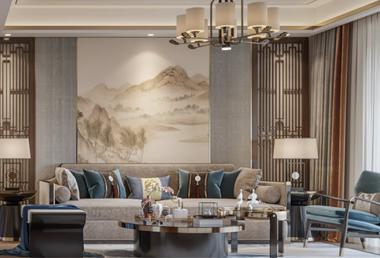 襄阳骧龙国际二期140平新中式家装案例鉴赏!