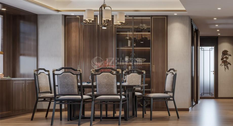 襄阳装修案例襄阳骧龙国际二期140平新中式家装案例鉴赏!