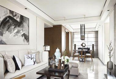 山水华府三室两厅新中式风格装修效果图