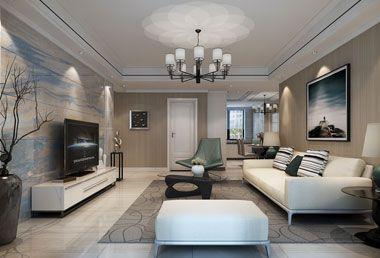 襄阳装修案例红星国际136平米三室两厅现代装修效果图