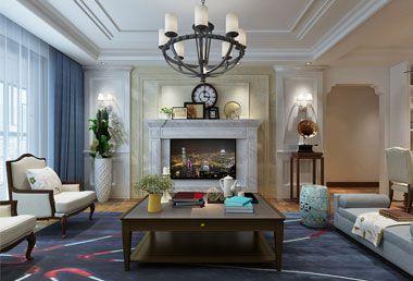 盛特区155平米三房两厅美式风格装修效果图