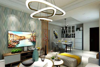 东津世纪城90平米两房两厅现代简约风格装修效果图