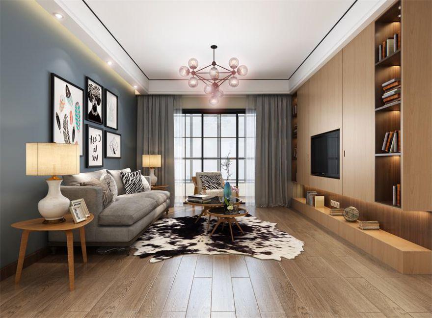 襄阳融侨城120平米三室两厅北欧风格装修案例,自然清幽的气质小家!