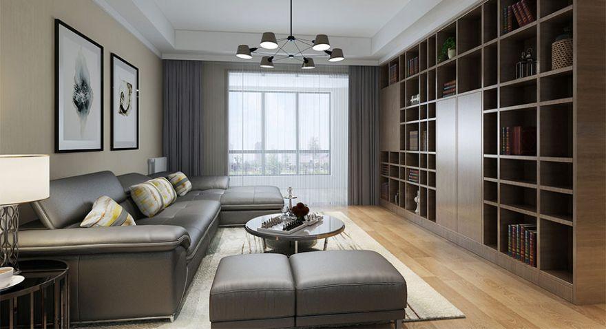 襄阳汉水华城151平米四室两厅现代简约风格装修案例,内敛大气,时尚雅致!
